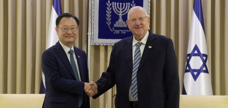 .President Rivlin received diplomatic credentials from the new ambassadors of Korea, India, Slovakia, Costa Rica and Sri Lanka to Israel.