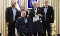 President Rivlin received the first Israeli spacecraft as a national project ahead of its launch to the moon