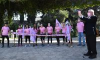 ".President Rivlin started the last kilometer run of the ""Gam Ani Ratza / I'm Running Too"" race to mark Breast Cancer Awareness Month"