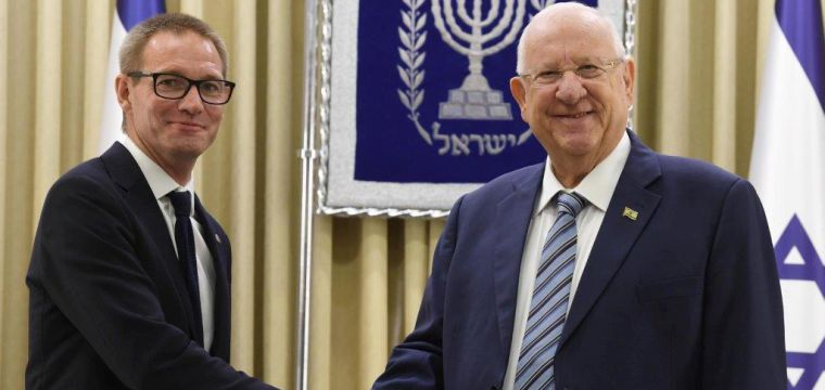 .President Rivlin received diplomatic credentials from the new ambassadors of the United Kingdom, Ireland, Bosnia and Herzegovina, Equatorial Guinea and Bulgaria to Israel