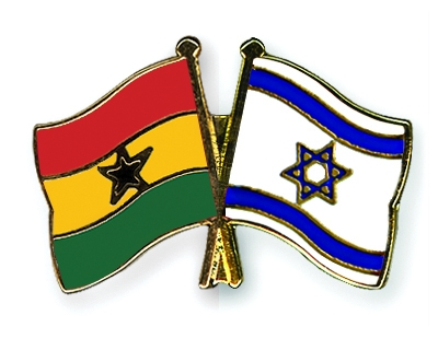 Israel and Ghana's flags.