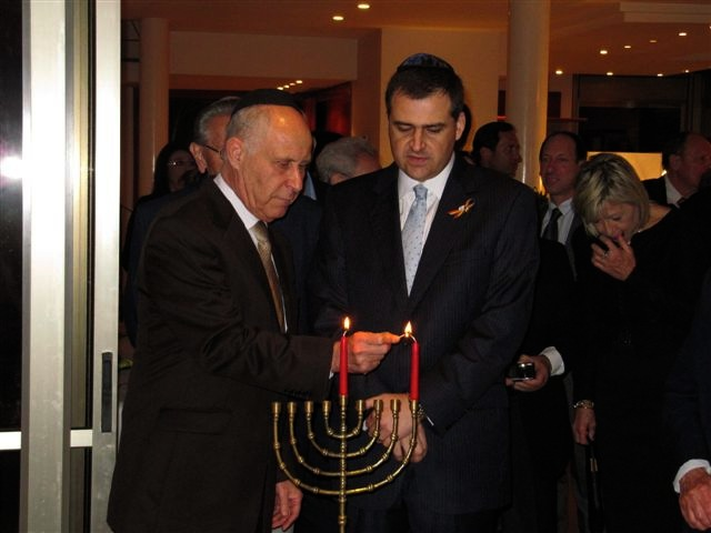 MK Michael Eitan and Romanian Ambassador Edward Iosiper